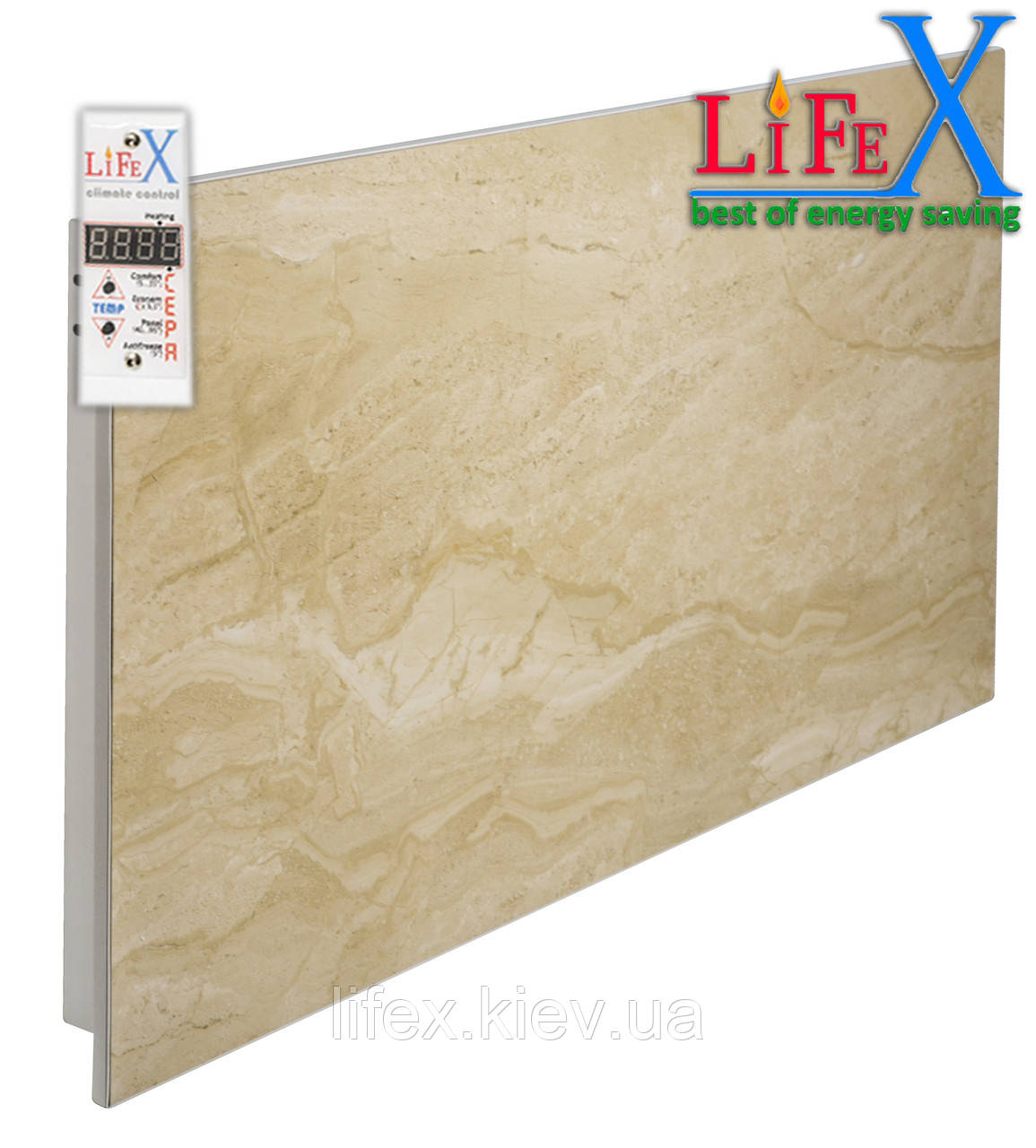 Керамическая панель инфракрасная LIFEX КОП600 (бежевый мрамор)