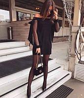 Женское черное платье мини