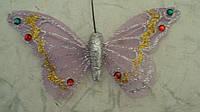 Бабочка магнит декоративная размер 12*7 см