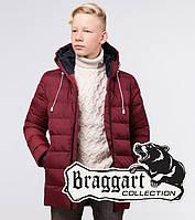 Braggart Kids   Зимняя куртка детская 65028 бордовая