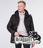 Braggart Kids   Детская куртка на зиму 65122 черная размеры 34- 40