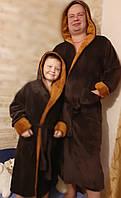 Комплект фемили лук, махровый мягкий  халат папа+сын , доставка по Украине
