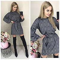 Женское стильное теплое платье