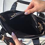 Женская сумка c косметичкой черная  (136-3), фото 4