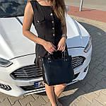 Женская сумка c косметичкой черная  (136-3), фото 5