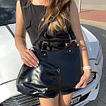 Женская сумка c косметичкой черная  (136-3), фото 3