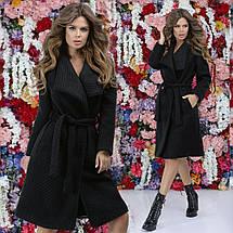"""Женское пальто букле на запах """"Adela"""" с поясом и карманами (4 цвета), фото 3"""