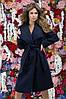 """Женское пальто букле на запах """"Adela"""" с поясом и карманами (4 цвета), фото 4"""
