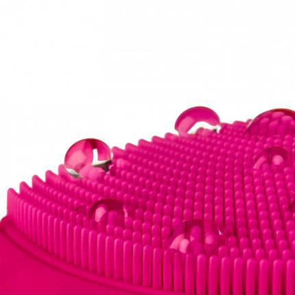Электрическая силиконовая щетка-массажер для чистки лица, фото 2