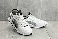 Мужские кроссовки кожаные весна/осень белые Baas A 315 -4