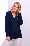 Джемпер 130 темно-синий, фото 2