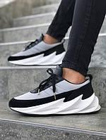 Мужские кроссовки Adidas Sharks Black Grey White (адидас шарк, черные/серые/белые)