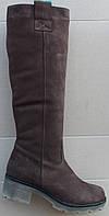 Сапоги женские зимние нубук на каблуке от производителя модель Ф850, фото 1