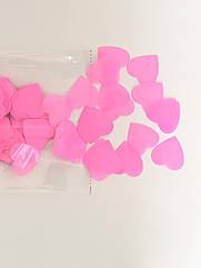 Конфетти Сердечки розовые 250 г большие