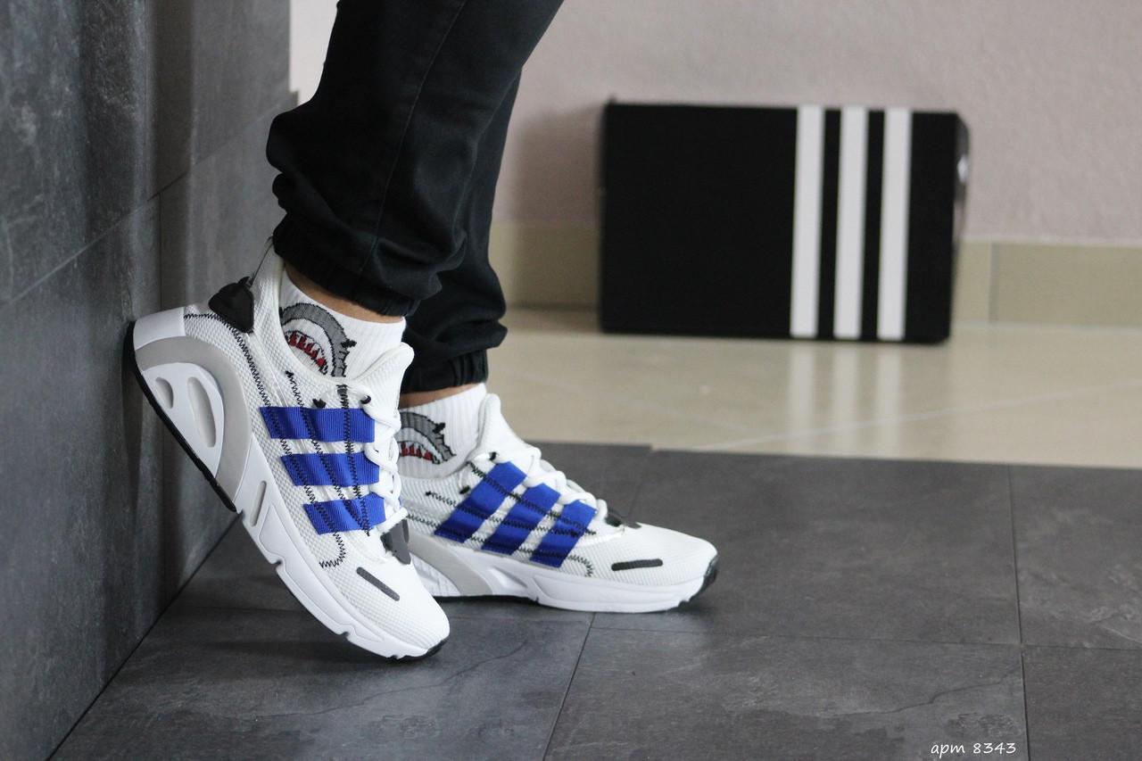 Мужские кроссовки Adidas (бело-синие)