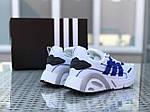 Мужские кроссовки Adidas (бело-синие), фото 2