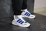 Мужские кроссовки Adidas (бело-синие), фото 3