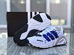 Мужские кроссовки Adidas (бело-синие), фото 6