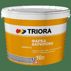 Акриловая краска для шифера Triora 10л (красно-коричневый)