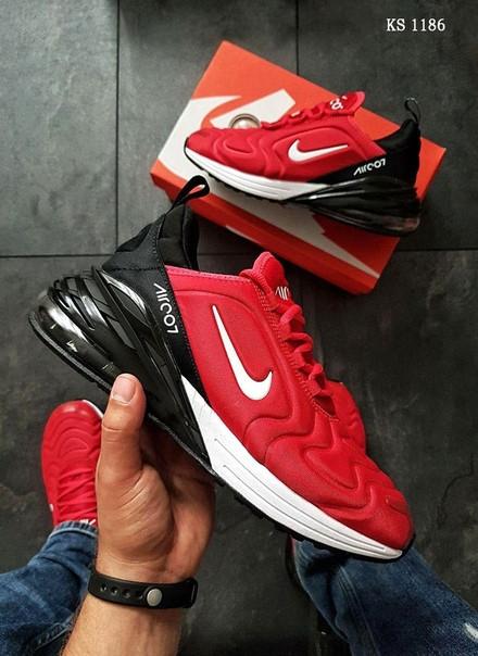 Мужские кроссовки Nike Air Max 270 (красно/черные)