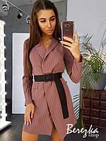 Платье-пиджак в полоску, фото 1