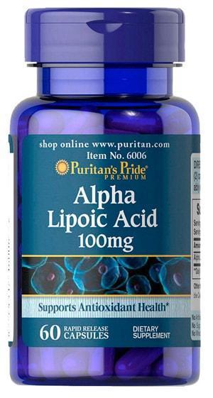 Антиоксидант Puritan's Pride Alpha Lipoic Acid 100 mg 60 caps