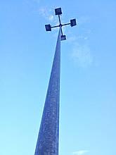 Опора освещения оцинкованная граненая  8 метров 3мм