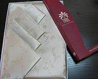 Скатерть ARYA (Турция) Beysu c Люриксом 160х220см, 12 Салфеток Tabe