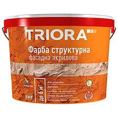 Фасадная структурная краска Triora 5кг