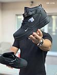 Чоловічі кросівки Nike Air Force 1 (чорні), фото 2