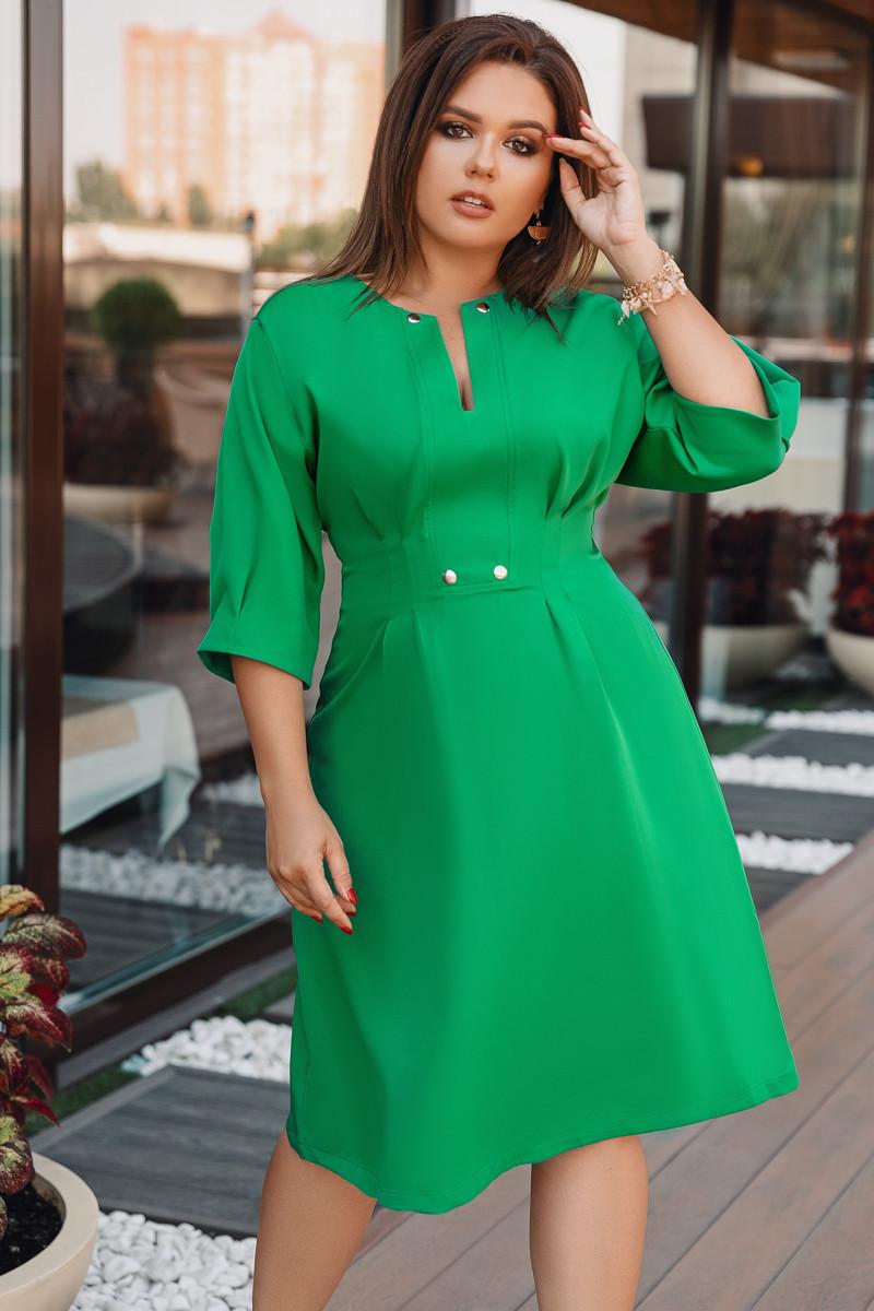 Платье LiLove 716 48-50 зеленый