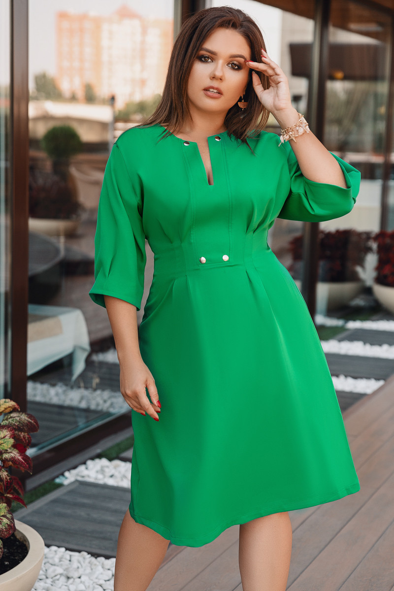 Платье LiLove 716 52-54 зеленый