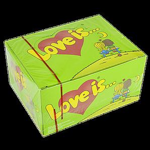 """Жувальна гумка""""Love is"""" 100 шт Яблуко-Лимон"""