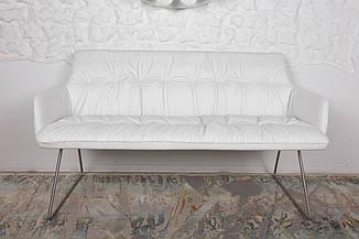 Кресло - банкетка LEON (Леон) белая от Niсolas, кожзам