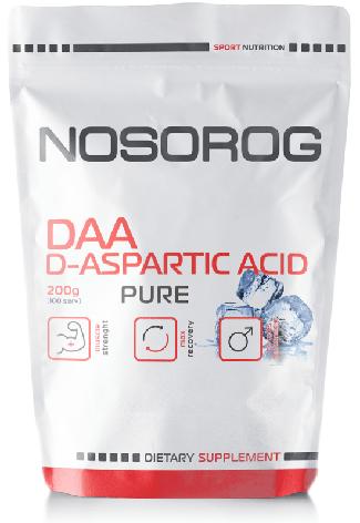 Д-аспарагиновая кислота NOSOROG DAA 200 g для увеличения тестостерона, фото 2