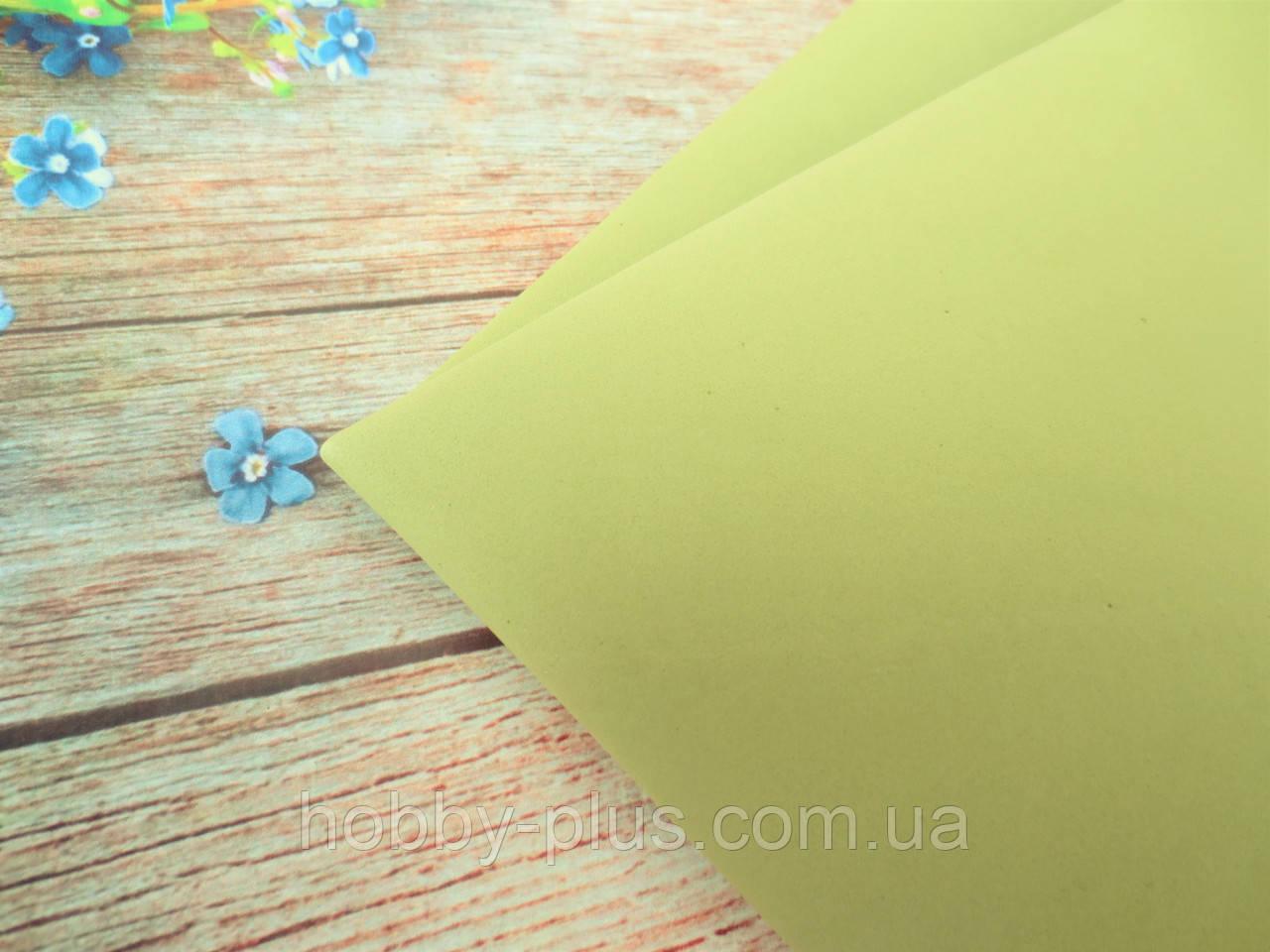 Фоамиран 1 мм, 50х50 см, цвет оливковый