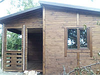 Дерев'яний будинок з профільованого брусу 6,0х5,0 м. Кредитование строительства деревянных домов
