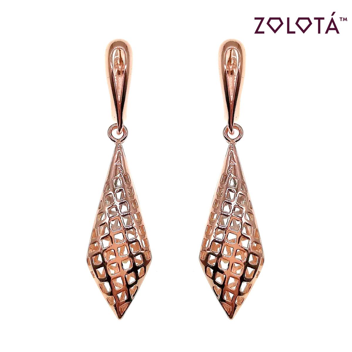 Серьги Zolota из медицинского золота, в позолоте, ЗЛ00671 (1)
