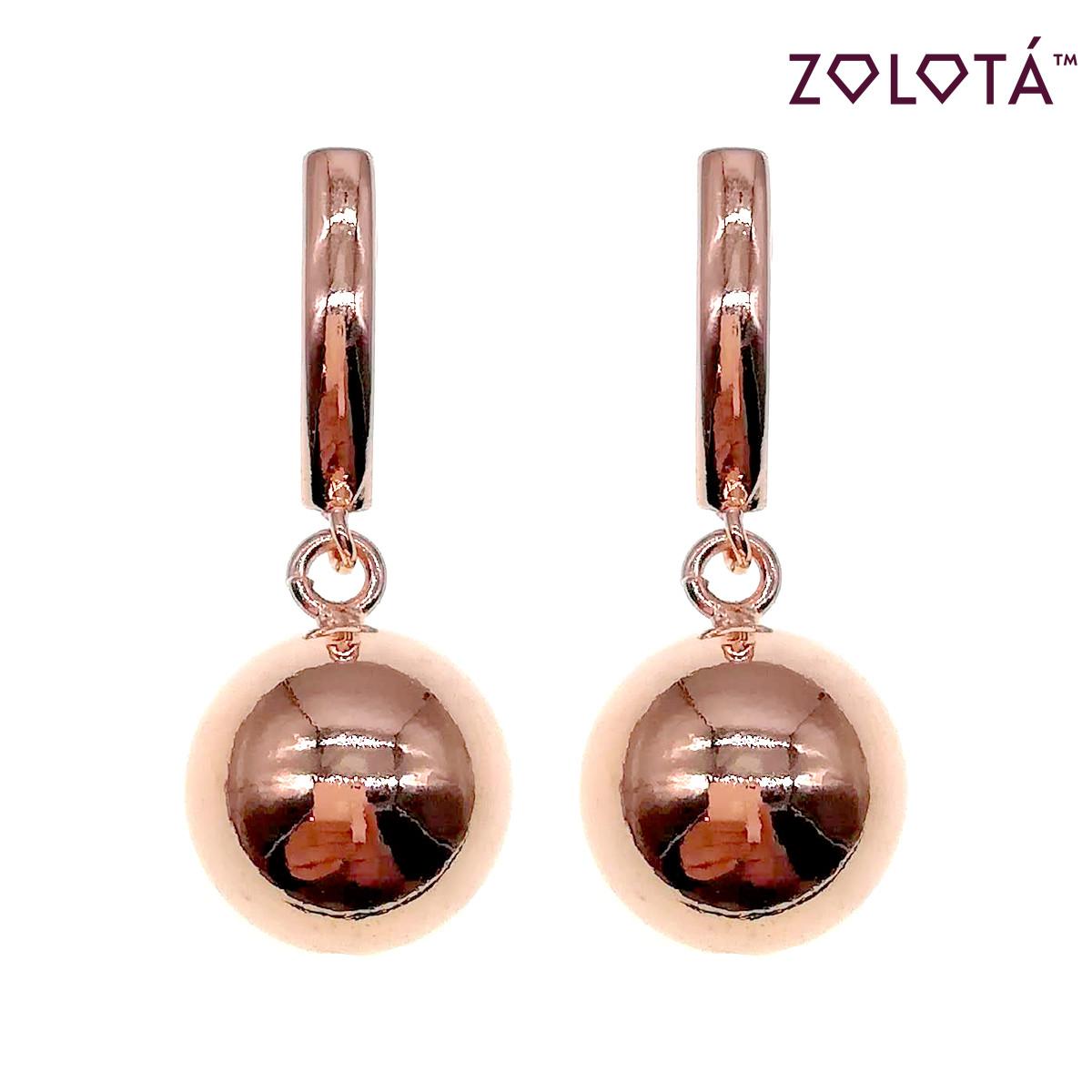 Серьги Zolota из медицинского золота, в позолоте, ЗЛ00668 (1)