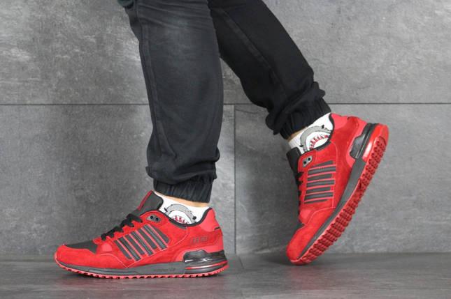 Красные кроссовки Демисезонные нубук 8354, фото 2