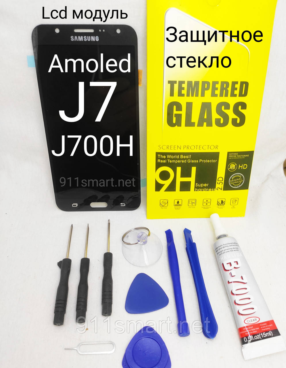 Дисплейный модуль LCD экран для Samsung Galaxy J7 j700h Amoled