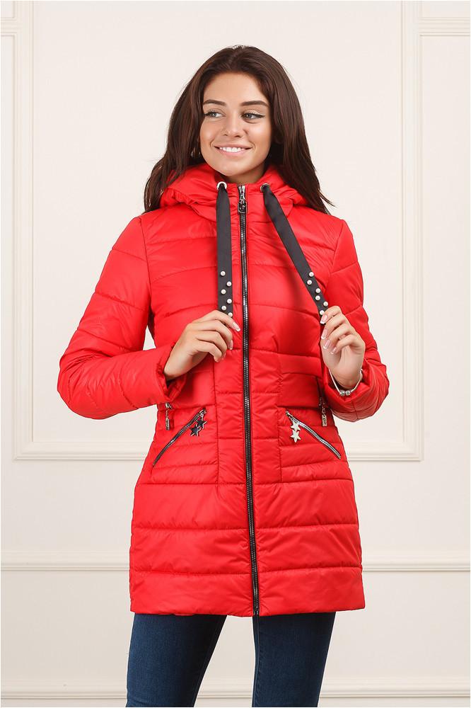 Красная куртка Сильва осень-весна