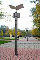 Парковая опора с отраженным светом на два светильника