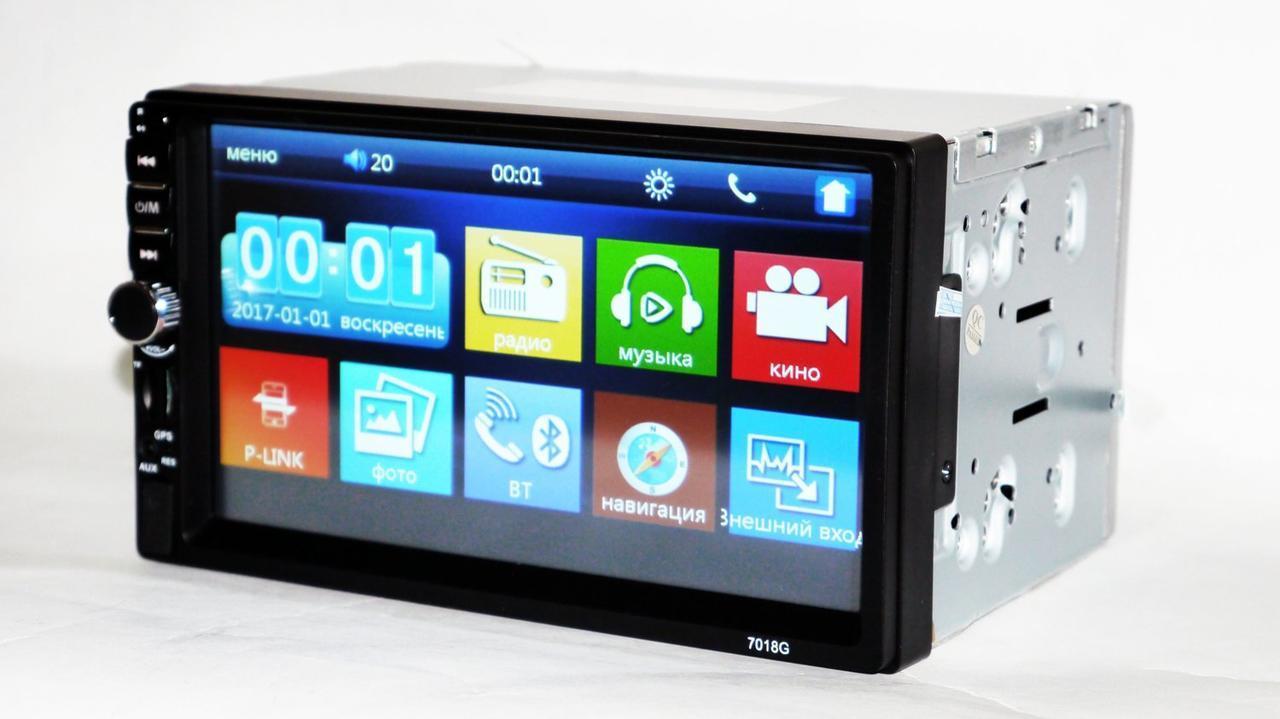 2din автомагнітола Pioneer 7018G GPS навігація + пульт на кермо