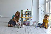 Радужная Многоэтажка + мебель +текстиль +свет + Дворик, фото 3