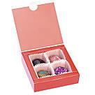 Шоколадные конфеты ручной роботы *Красная коробка на 4шт.*, фото 5