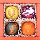 Шоколадные конфеты ручной роботы *Красная коробка на 4шт.*, фото 7