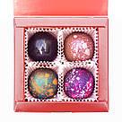 Шоколадные конфеты ручной роботы *Красная коробка на 4шт.*, фото 8
