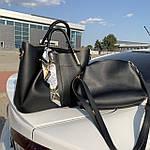 Женская сумка c косметичкой черная  (199), фото 2