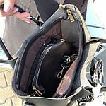 Женская сумка c косметичкой черная  (199), фото 4